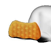 Katzenbürste Groomy Bürste für Langhaar Katzen orange